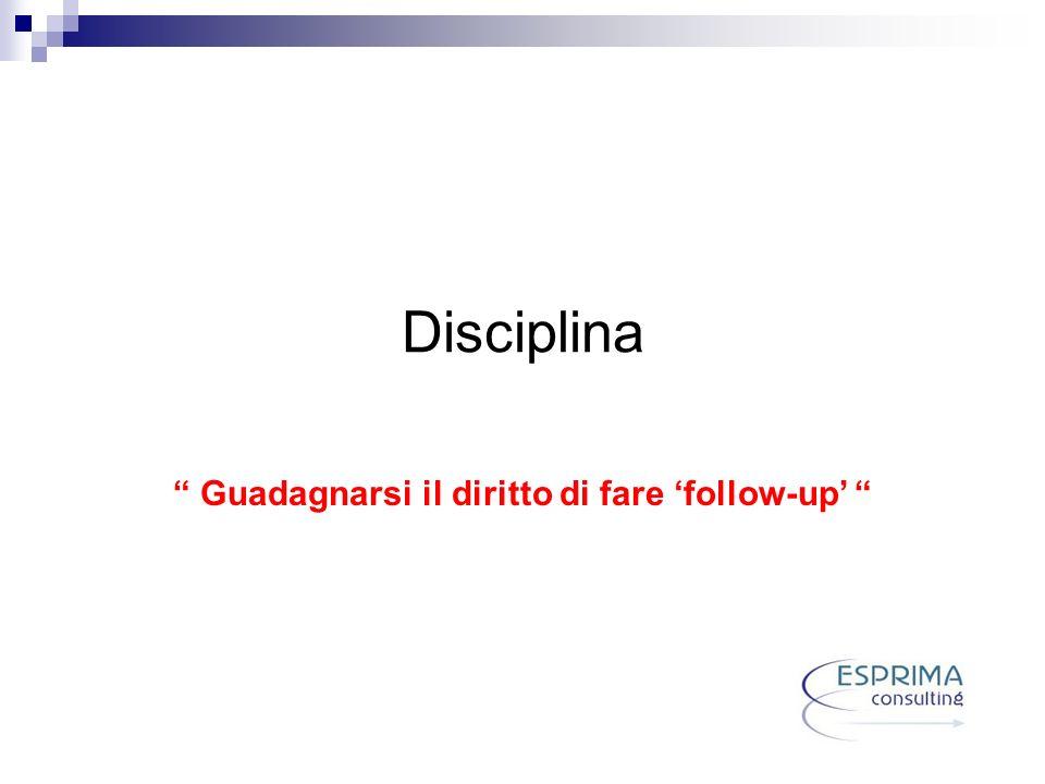 Disciplina Guadagnarsi il diritto di fare follow-up