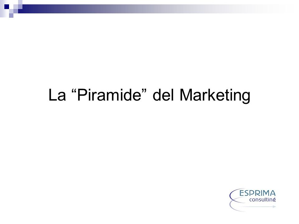 La Piramide del Marketing