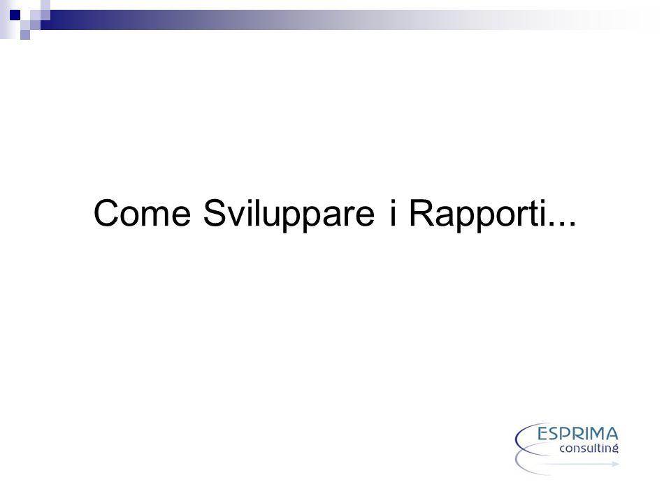 Come Sviluppare i Rapporti...