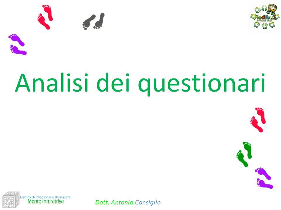 Analisi dei questionari Dott. Antonio Consiglio