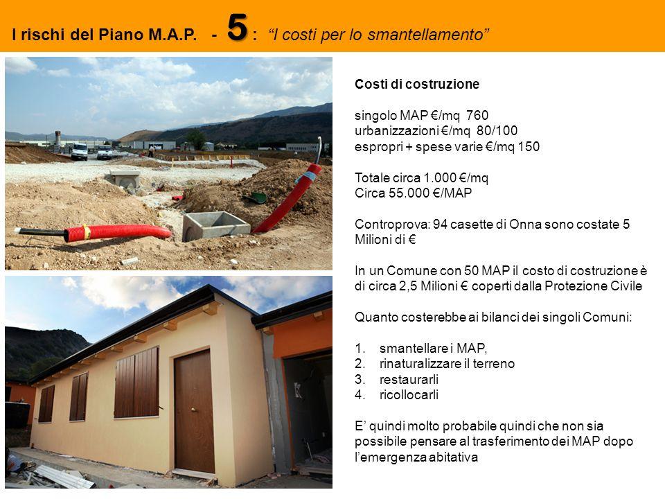 5 I rischi del Piano M.A.P.