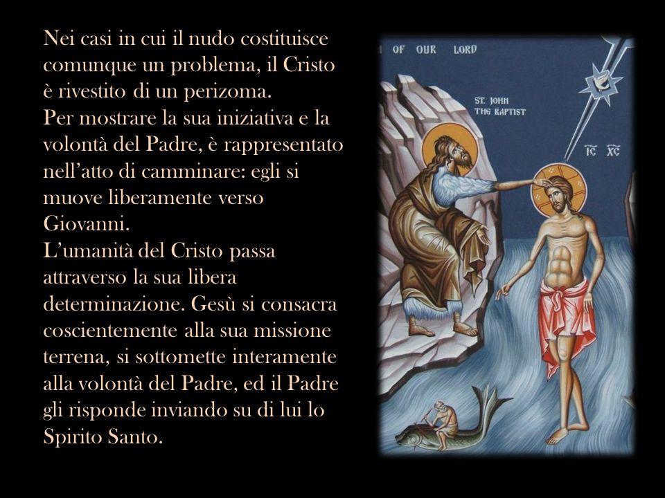 Nei casi in cui il nudo costituisce comunque un problema, il Cristo è rivestito di un perizoma. Per mostrare la sua iniziativa e la volontà del Padre,