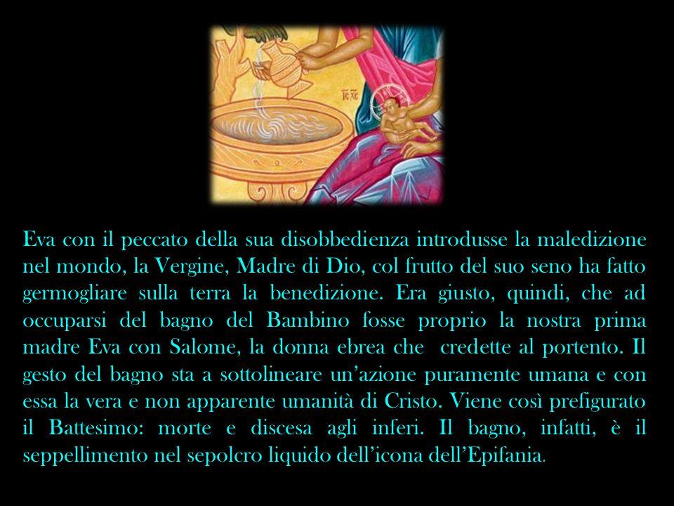 Eva con il peccato della sua disobbedienza introdusse la maledizione nel mondo, la Vergine, Madre di Dio, col frutto del suo seno ha fatto germogliare