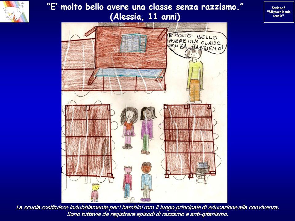 E molto bello avere una classe senza razzismo. (Alessia, 11 anni) La scuola costituisce indubbiamente per i bambini rom il luogo principale di educazi