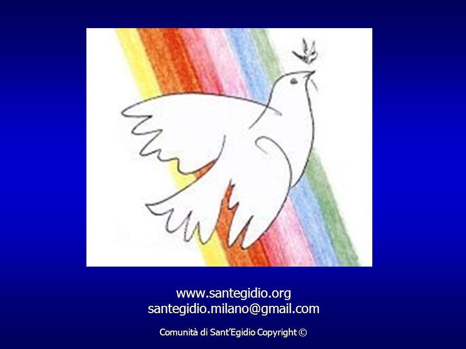 www.santegidio.org santegidio.milano@gmail.com Comunità di SantEgidio Copyright ©