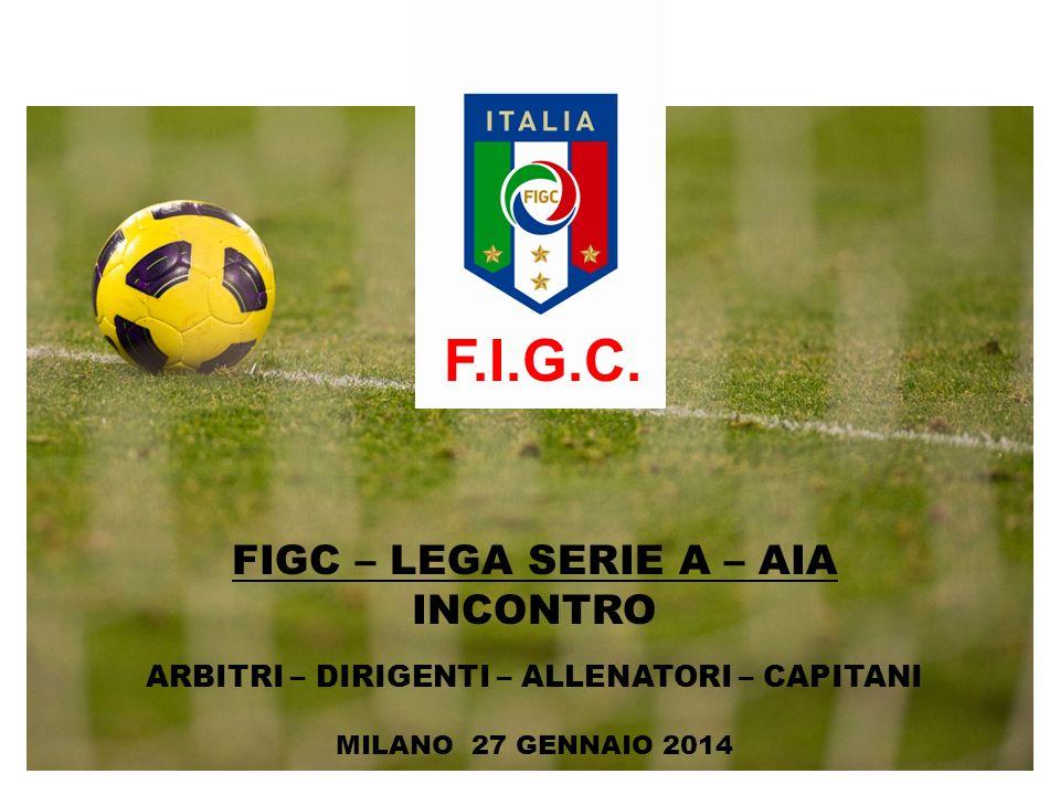 FIGC – LEGA SERIE A – AIA INCONTRO ARBITRI – DIRIGENTI – ALLENATORI – CAPITANI MILANO 27 GENNAIO 2014 F.I.G.C.