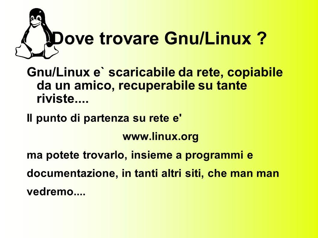 Dove trovare Gnu/Linux .