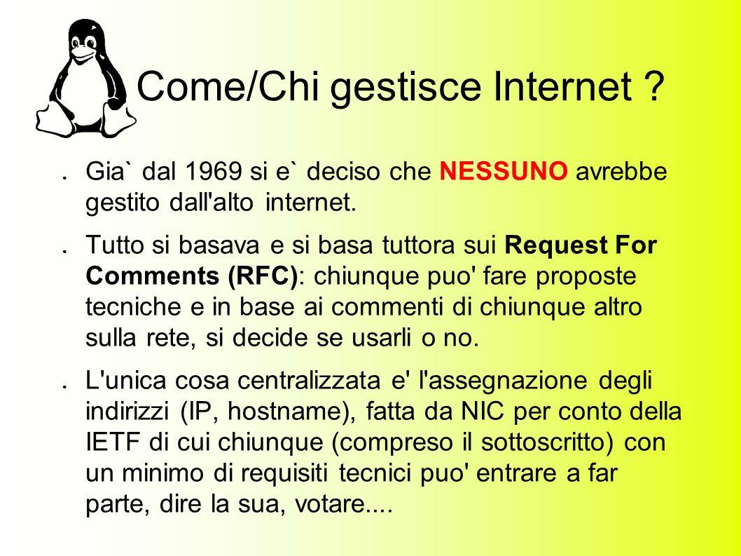 Come/Chi gestisce Internet .
