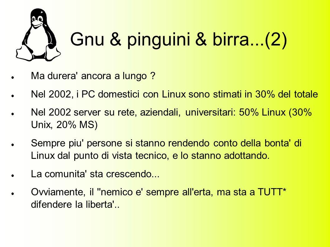 Gnu & pinguini & birra...(2) Ma durera ancora a lungo .