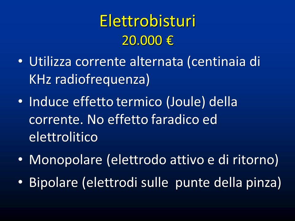 Ultracision® (Harmonic Scalpel) Generatore che converte energia elettrica in vibrazioni con un trasduttore piezoelettrico.