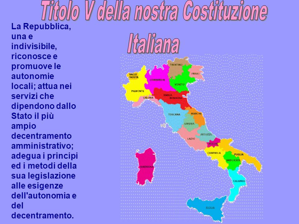 La Riforma del Titolo V Tali competenze sono state di recente ampliate dalla Riforma del Titolo V della Costituzione che, nel confermare la posizione costituzionale di autonomia speciale, attribuisce alla Sardegna nuove materie (ad esempio, ricerca e formazione professionale).