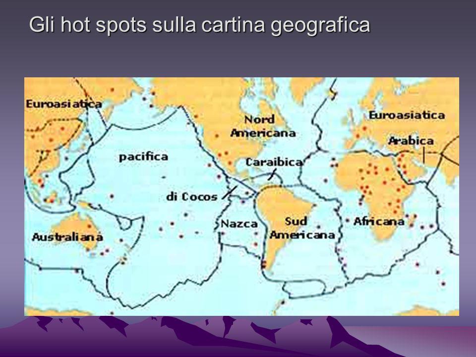 Gli hot spots sulla cartina geografica