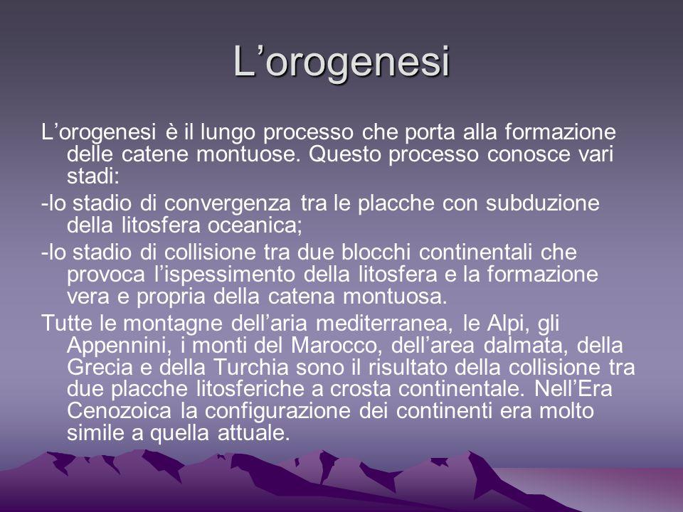 Lorogenesi Lorogenesi è il lungo processo che porta alla formazione delle catene montuose.