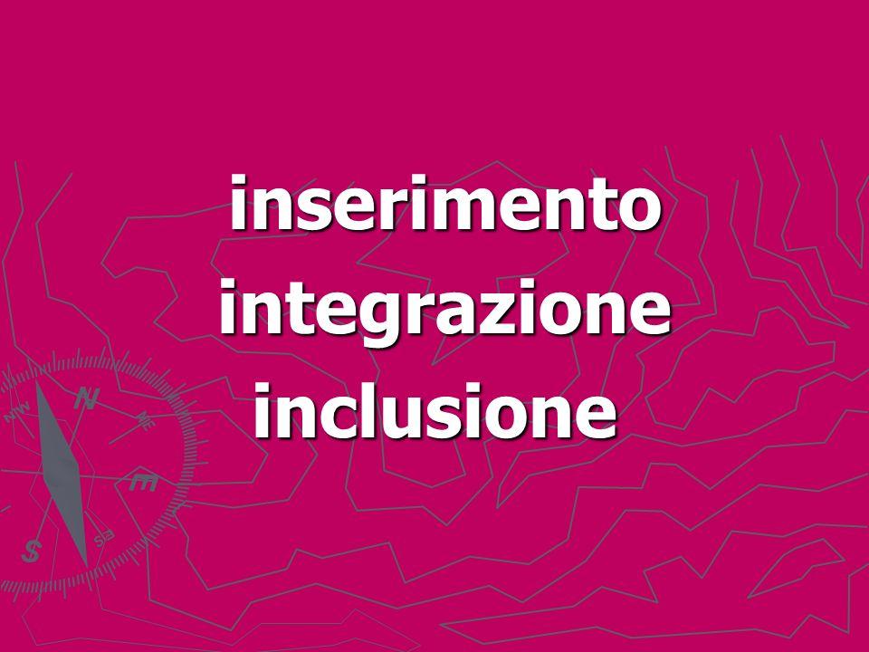 inserimento inserimento integrazione integrazioneinclusione
