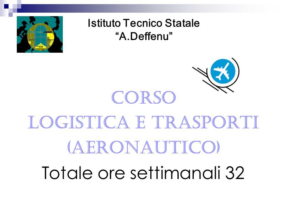 CORSO Logistica e Trasporti (Aeronautico) Totale ore settimanali 32 Istituto Tecnico Statale A.Deffenu