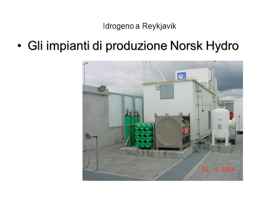 Idrogeno a Reykjavik Gli impianti di produzione Norsk HydroGli impianti di produzione Norsk Hydro
