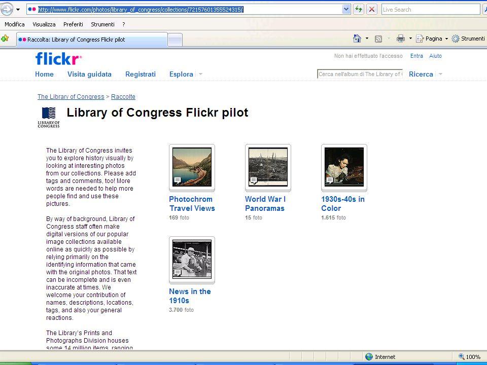 Stelline, Milano, 12 marzo 200930 Le collezioni nel Web 2.0 La Library of Congress su Flikr