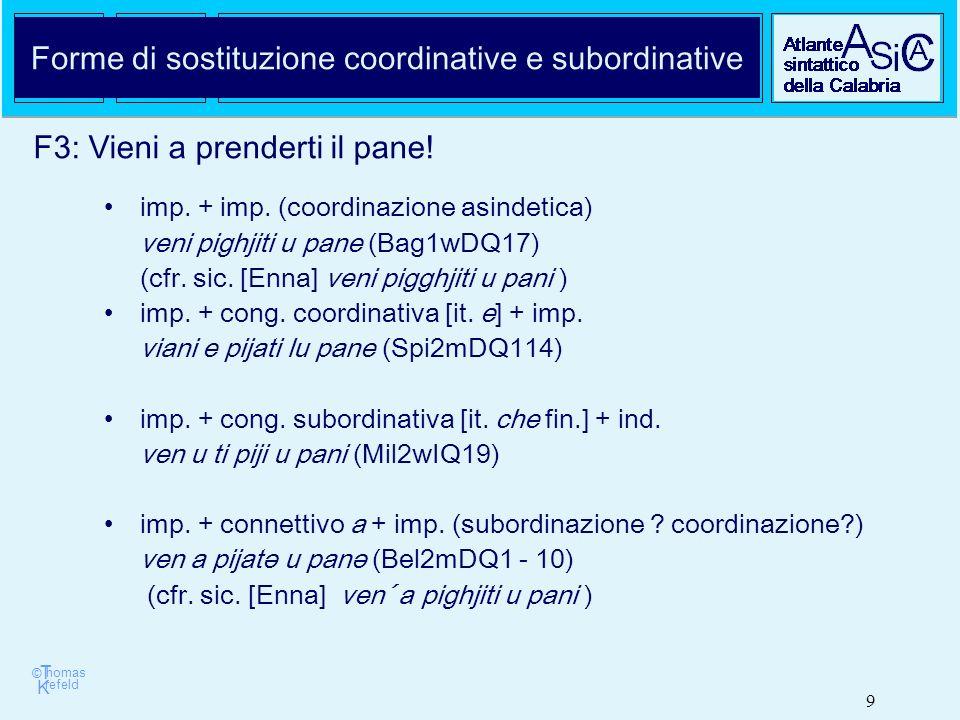 © T K refeld homas 9 Forme di sostituzione coordinative e subordinative imp.