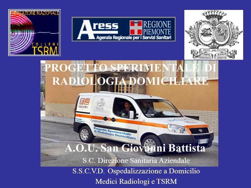 PROGETTO SPERIMENTALE DI RADIOLOGIA DOMICILIARE A.O.U. San Giovanni Battista S.C. Direzione Sanitaria Aziendale S.S.C.V.D. Ospedalizzazione a Domicili