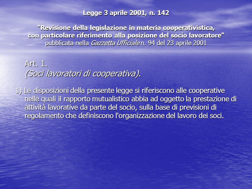 Legge 3 aprile 2001, n. 142