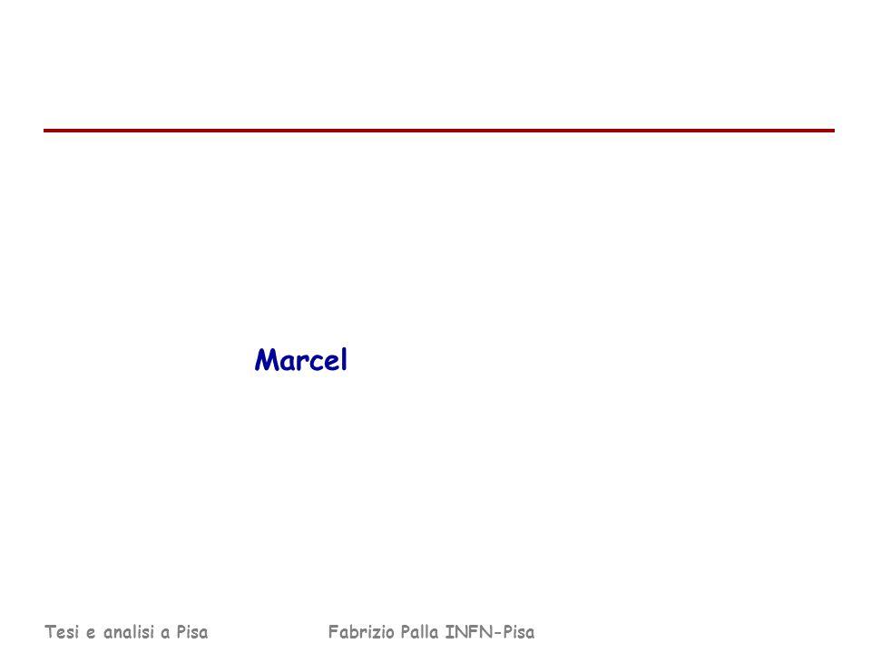 Tesi e analisi a PisaFabrizio Palla INFN-Pisa Marcel