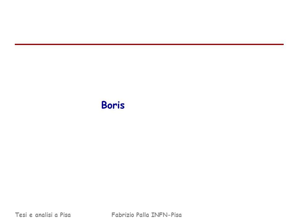 Tesi e analisi a PisaFabrizio Palla INFN-Pisa Boris