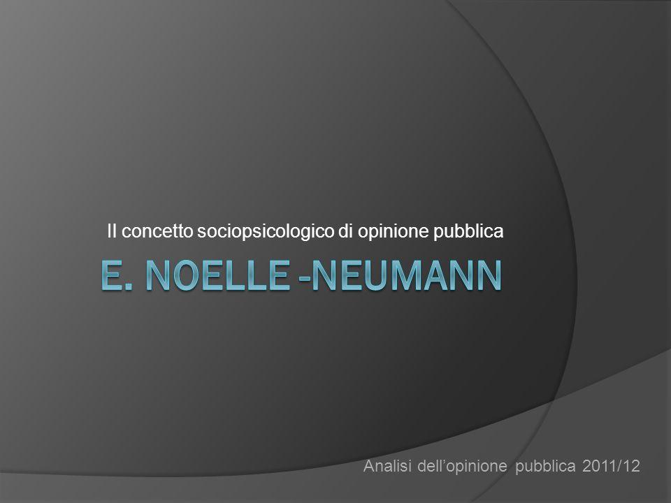 Il concetto sociopsicologico di opinione pubblica Analisi dellopinione pubblica 2011/12