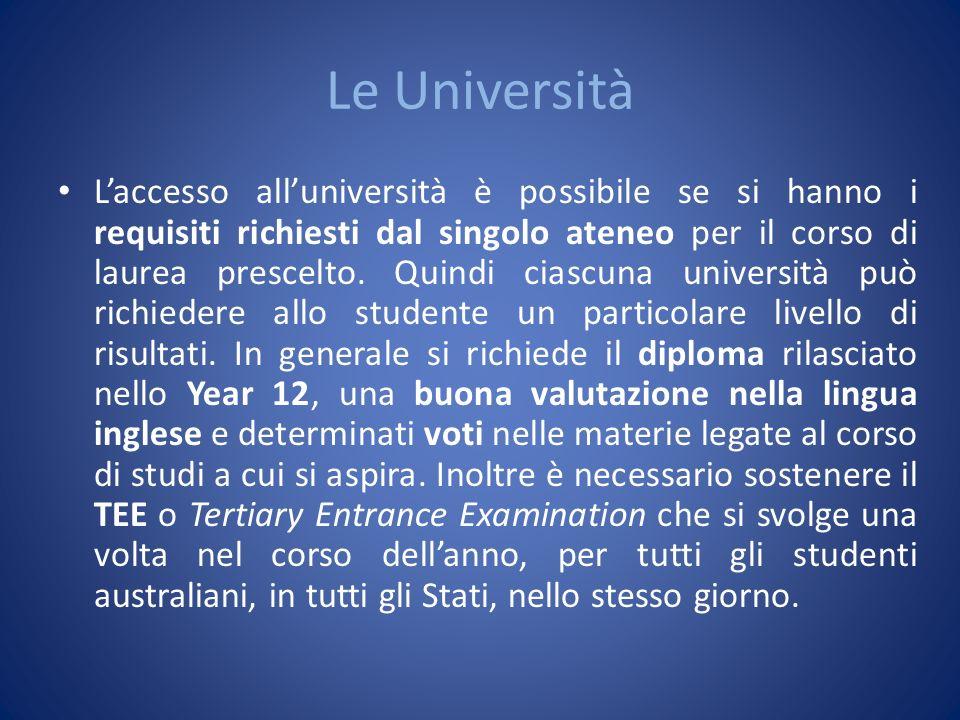 Le Università Laccesso alluniversità è possibile se si hanno i requisiti richiesti dal singolo ateneo per il corso di laurea prescelto. Quindi ciascun
