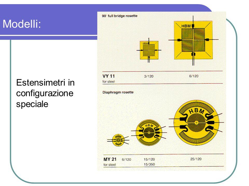 Estensimetri in configurazione speciale Modelli: