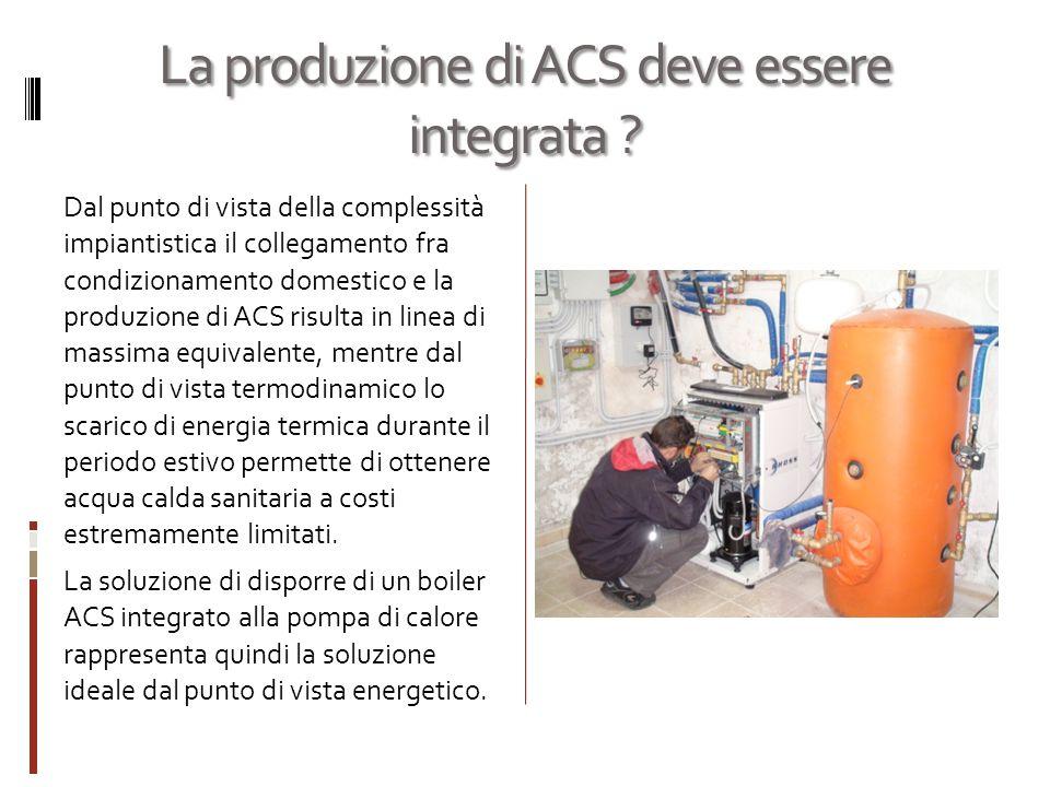 La produzione di ACS deve essere integrata .