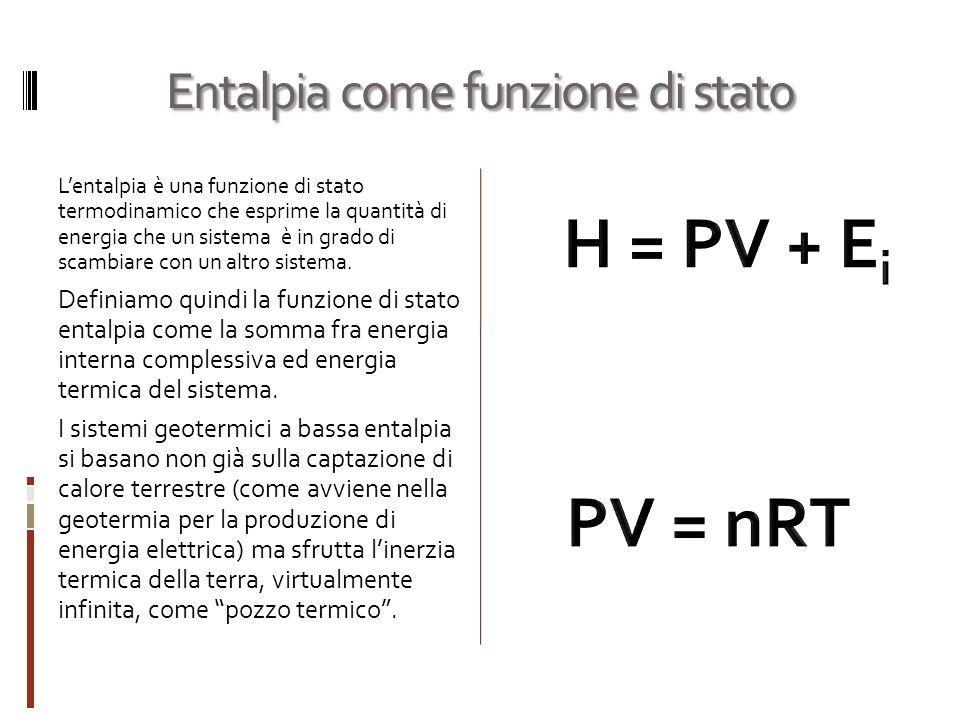 Entalpia come funzione di stato Lentalpia è una funzione di stato termodinamico che esprime la quantità di energia che un sistema è in grado di scambiare con un altro sistema.