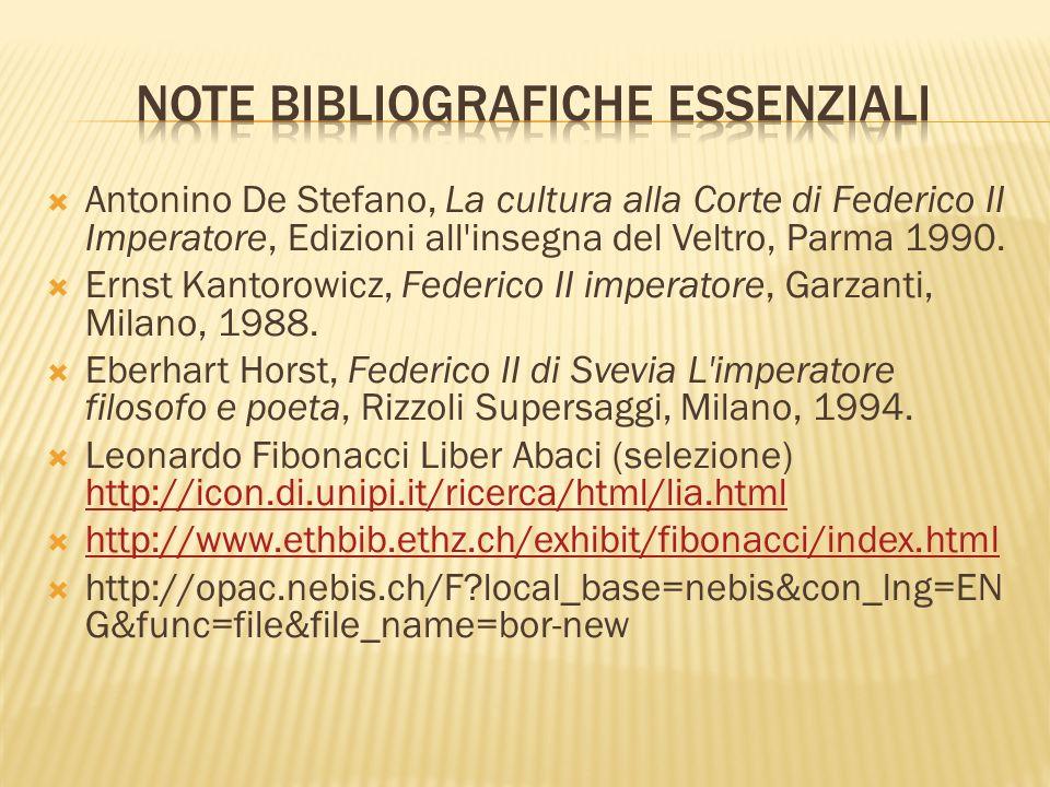 Antonino De Stefano, La cultura alla Corte di Federico II Imperatore, Edizioni all insegna del Veltro, Parma 1990.