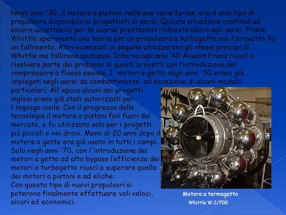 Negli anni '30, il motore a pistoni, nelle sue varie forme, era il solo tipo di propulsore disponibile ai progettisti di aerei. Questa situazione cont
