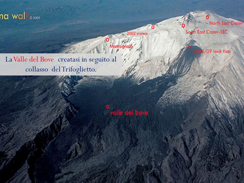 La Valle del Bove creatasi in seguito al collasso del Trifoglietto.