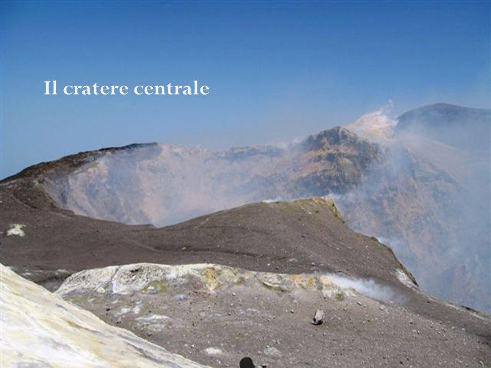 Attualmente la parte sommitale dellEtna ha 4 crateri: la Voragine e la Bocca Nuova, contenute all'interno del Cratere Centrale nate rispettivamente ne