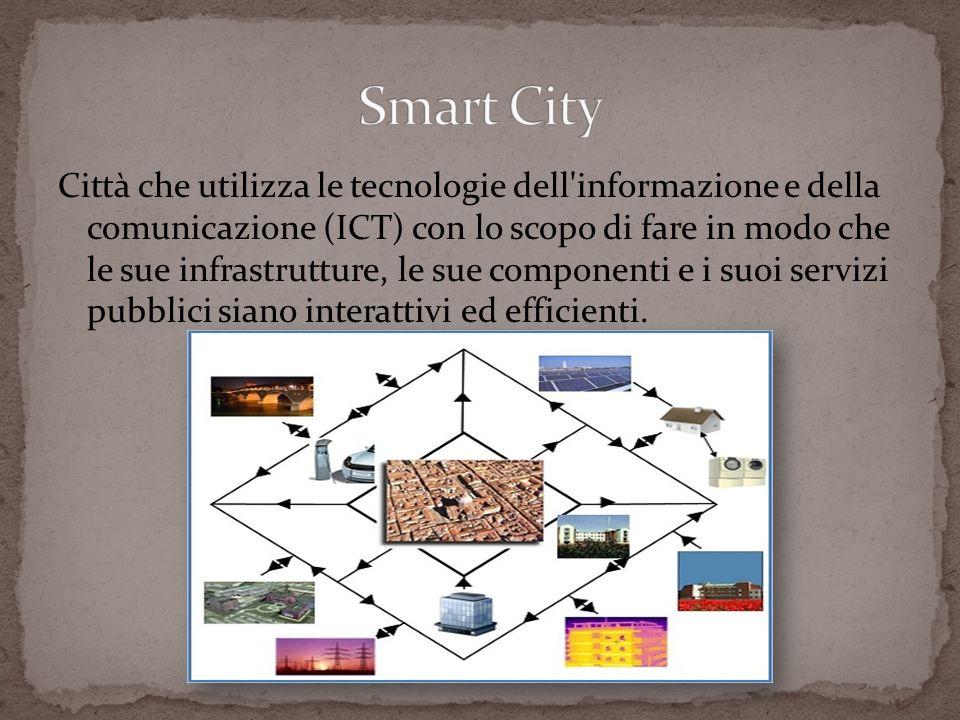 Città che utilizza le tecnologie dell'informazione e della comunicazione (ICT) con lo scopo di fare in modo che le sue infrastrutture, le sue componen