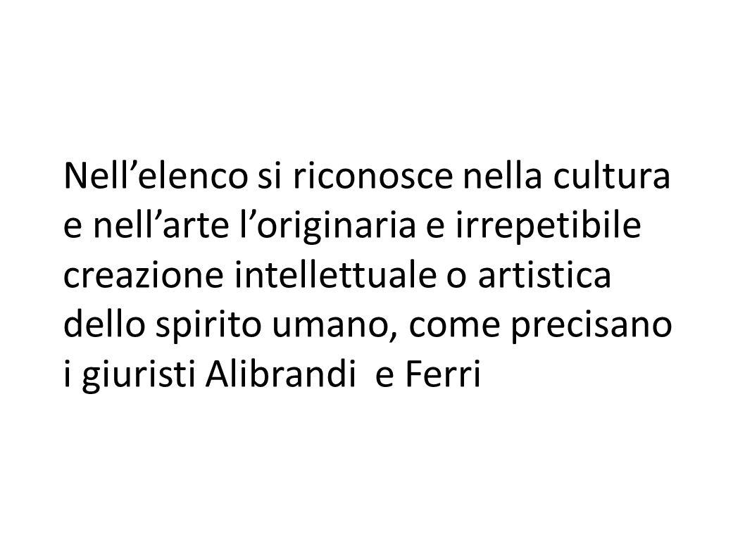Nel 1967 la Commissione Franceschini introdusse in Italia la definizione di bene culturale, inteso come bene che costituisce testimonianza di civiltà.