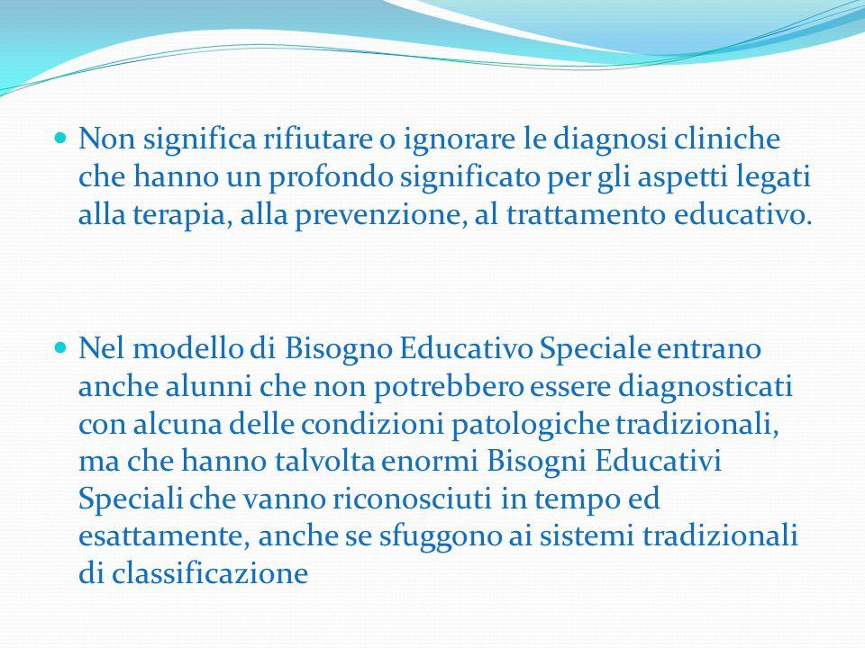 Non significa rifiutare o ignorare le diagnosi cliniche che hanno un profondo significato per gli aspetti legati alla terapia, alla prevenzione, al tr