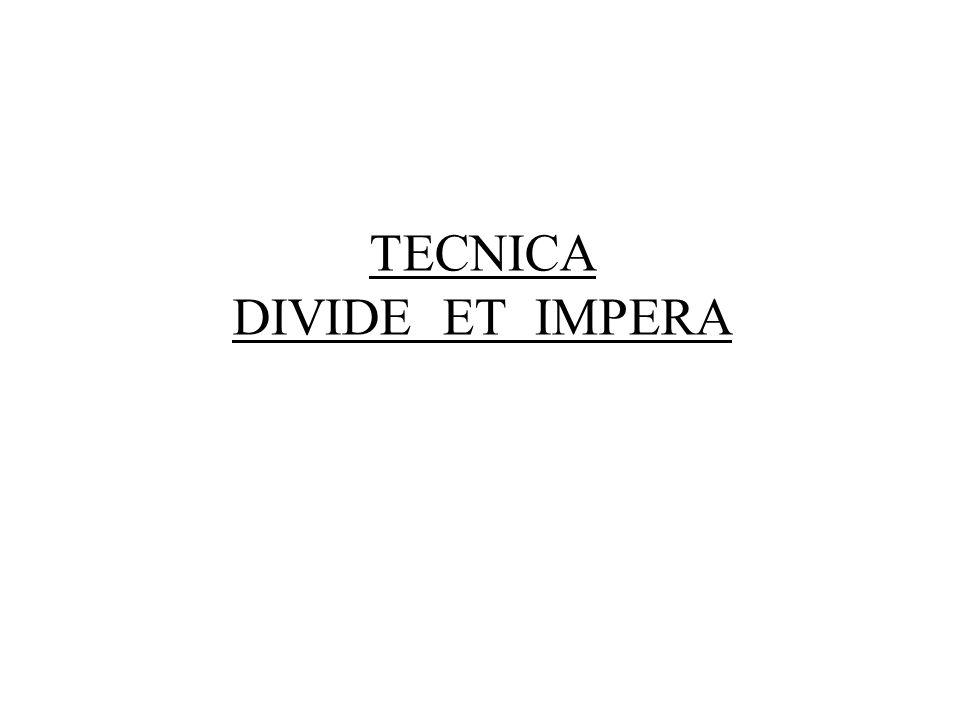 TECNICA DIVIDE ET IMPERA