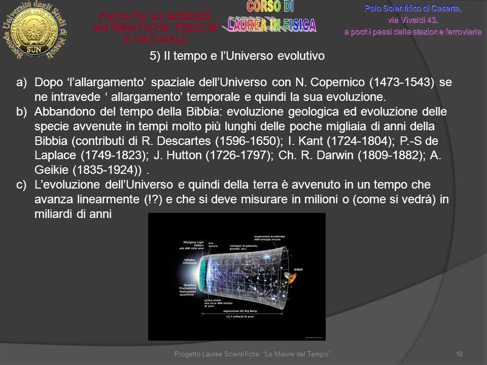 Polo Scientifico di Caserta, via Vivaldi 43, a pochi passi dalla stazione ferroviaria FACOLTA DI SCIENZE MATEMATICHE, FISICHE E NATURALI 10Progetto La