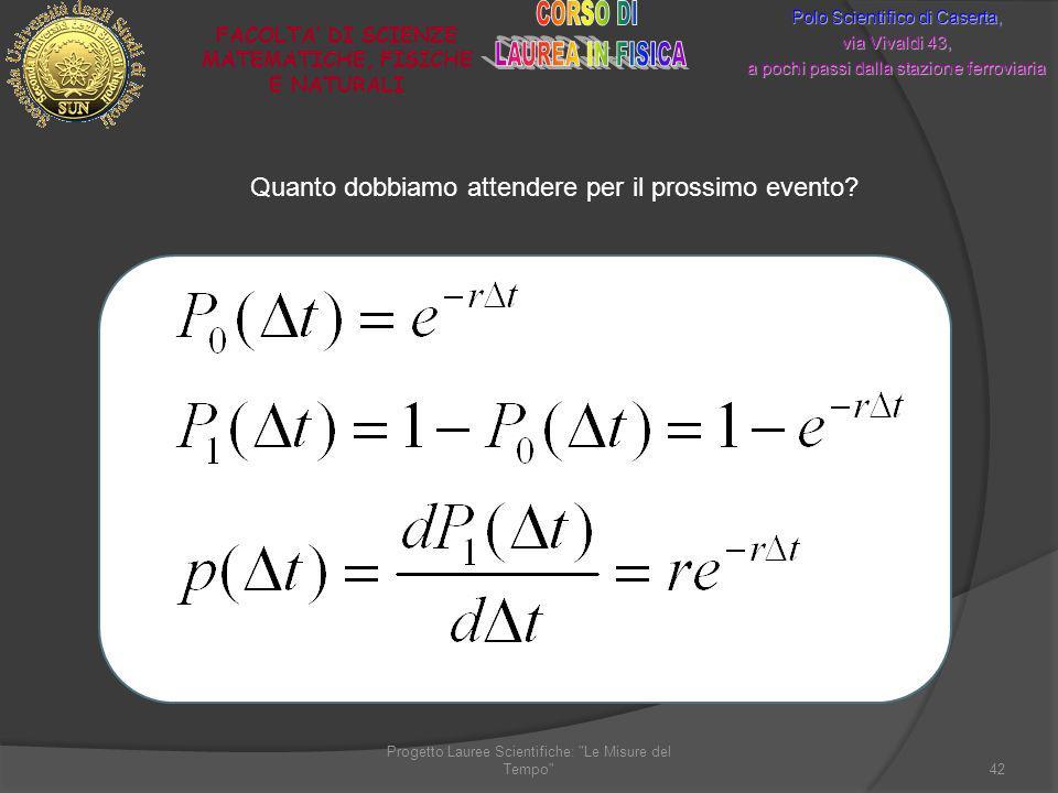Progetto Lauree Scientifiche:
