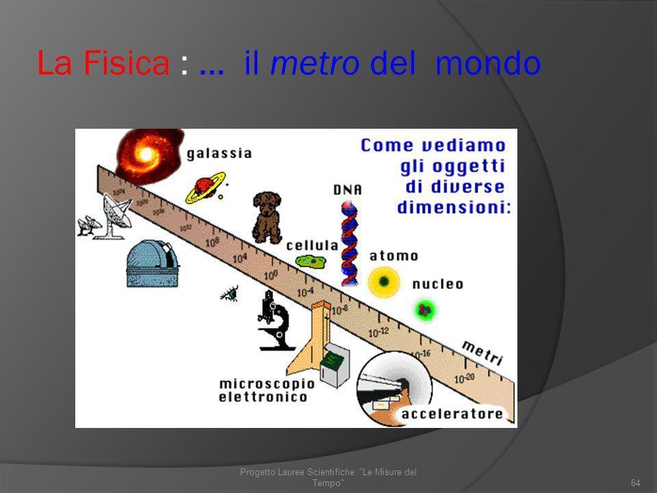 La Fisica : … il metro del mondo 64 Progetto Lauree Scientifiche: