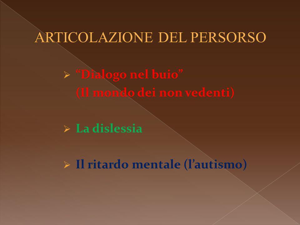 Dialogo nel buio (Il mondo dei non vedenti) La dislessia Il ritardo mentale (lautismo)