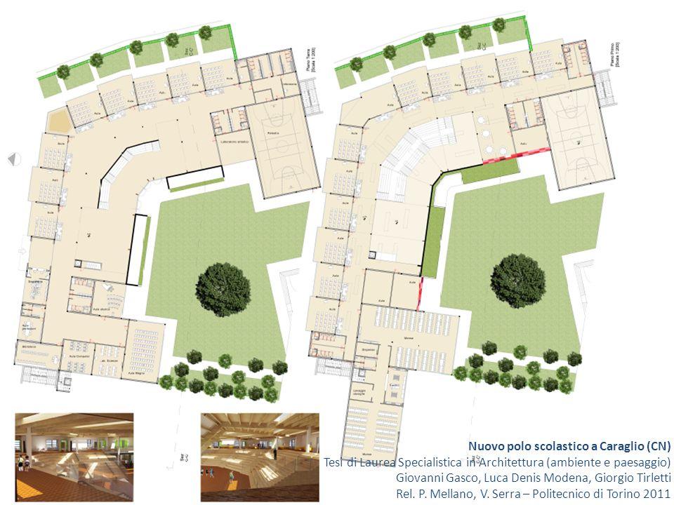 Nuovo polo scolastico a Caraglio (CN) Tesi di Laurea Specialistica in Architettura (ambiente e paesaggio) Giovanni Gasco, Luca Denis Modena, Giorgio Tirletti Rel.