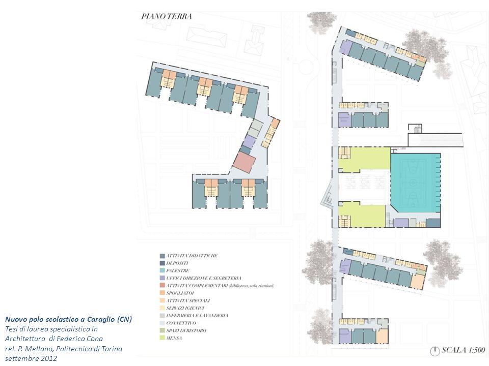Nuovo polo scolastico a Caraglio (CN) Tesi di laurea specialistica in Architettura di Federica Cona rel. P. Mellano, Politecnico di Torino settembre 2