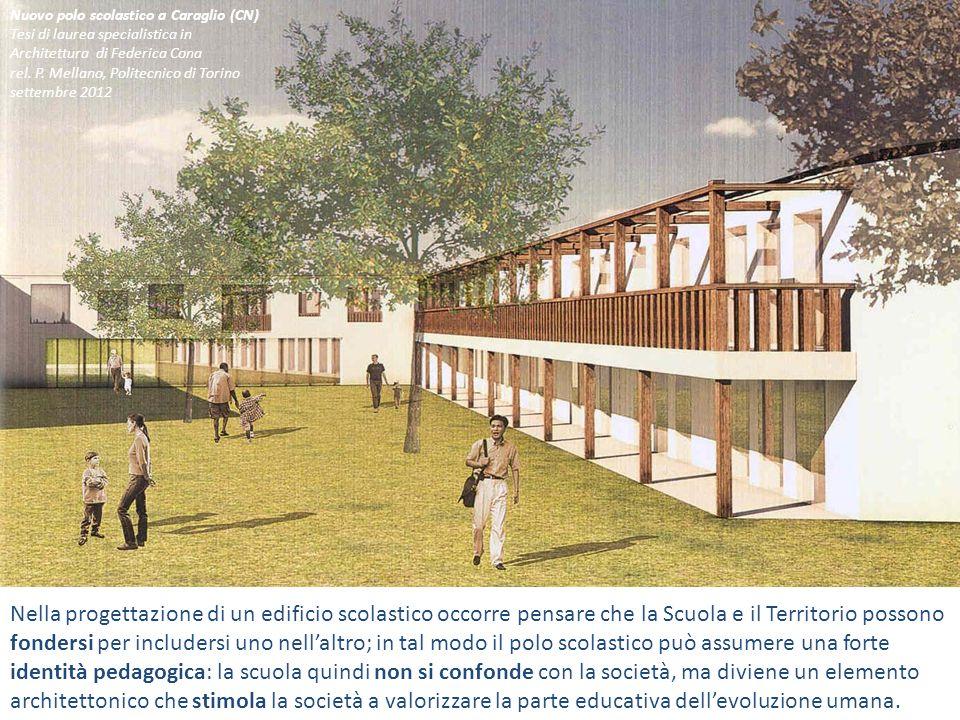 Nella progettazione di un edificio scolastico occorre pensare che la Scuola e il Territorio possono fondersi per includersi uno nellaltro; in tal modo
