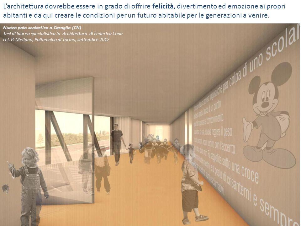 Nelledificio scolastico anche i corridoi sono parte integrante della formazione.