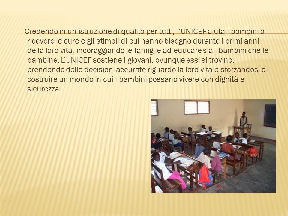 Creato dallAssemblea Generale delle Nazioni Unite nel 1946 per aiutare i bambini dopo la Seconda Guerra Mondiale in Europa, lUNICEF fu riconosciuto co