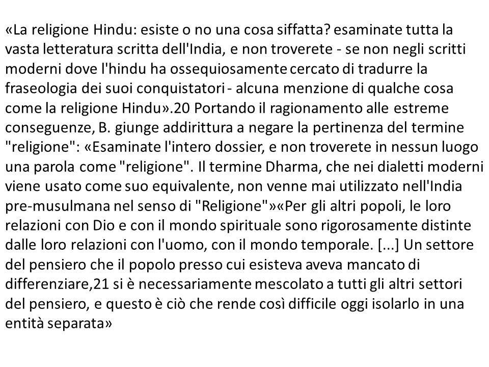 «La religione Hindu: esiste o no una cosa siffatta.