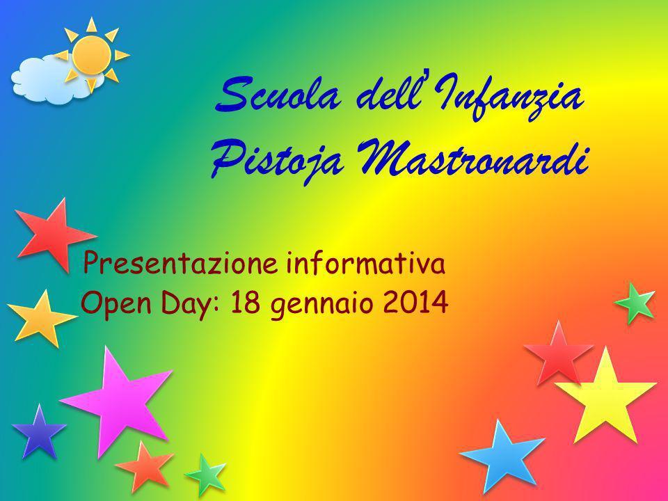 Scuola dell Infanzia Pistoja Mastronardi Presentazione informativa Open Day: 18 gennaio 2014